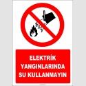 EF1316 - Elektrik Yangınlarında Su Kullanmayın
