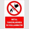 EF1317 - Metal Yangınlarında Su Kullanmayın