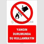 EF1318 - Yangın Durumunda Su Kullanmayın