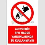 EF1319 - Alevlenir Sıvı Madde Yangınlarında Su Kullanmayın