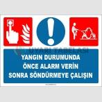 EF1325 - Yangın Durumunda Önce Alarm Verin Sonra Söndürmeye Çalışın