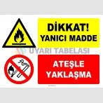 EF1330 - Dikkat! Yanıcı Madde, Ateşle Yaklaşma