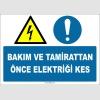 EF1375 - Bakım ve Tamirattan Önce Elektriği Kes