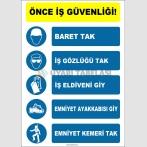 EF1414 - Önce İş Güvenliği, Baret, İş Gözlüğü, İş Eldiveni, Emniyet Ayakkabısı, Emniyet Kemeri