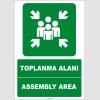 EF1475 - Türkçe İngilizce Toplanma Alanı, Assembly Area