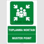 EF1477 - Türkçe İngilizce Toplanma Noktası, Muster Point