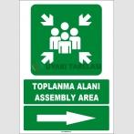 EF1489 - Türkçe İngilizce Toplanma Alanı, Assembly Area, Sağ Tarafta