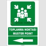 EF1496 - Türkçe İngilizce Toplanma Noktası, Muster Point, Sol Tarafta