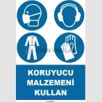 EF1503 - Koruyucu Malzemeni Kullan, Maske, Kulaklık, Giysi, Eldiven