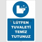 EF1526  - Lütfen Tuvaleti Temiz Tutunuz