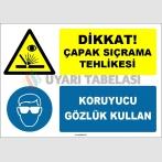 EF1539 - Dikkat çapak sıçrama tehlikesi, koruyucu gözlük kullan