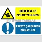 EF1566 - Dikkat Ezilme Tehlikesi, Preste Çalışırken Dikkatli Ol