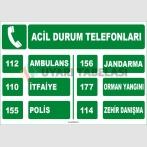 EF1579 - Acil Durum Telefonları