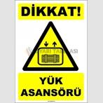 EF1607 - Dikkat! Yük Asansörü