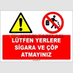 EF1653 - Lütfen Yerlere Sigara ve Çöp Atmayınız