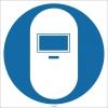EF1702 - Kaynak Maskesi İşareti/Levhası/Etiketi