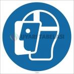 EF1721 - Yüz Siperi İşareti/Levhası/Etiketi