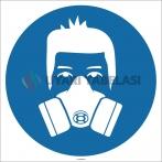 EF1726 - Yarım Yüz Maskesi İşareti/Levhası/Etiketi