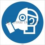 EF1727 - Tam Yüz Maskesi İşareti/Levhası/Etiketi