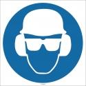 EF1728 - Baret, Gözlük, Kulaklık İşareti/Levhası/Etiketi