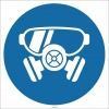 EF1743 - Koruyucu Gözlük ve Maske İşareti/Levhası/Etiketi