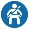 EF1746 - Emniyet Kemeri İşareti/Levhası/Etiketi