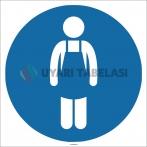 EF1760 - İş Önlüğü İşareti/Levhası/Etiketi