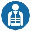 EF1765 - Koruyucu Yelek İşareti/Levhası/Etiketi