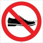 EF1785 - Ayakkabı İle Girilmez İşareti/Levhası/Etiketi