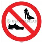 EF1786 - Ayakkabı İle Girilmez İşareti/Levhası/Etiketi