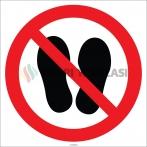 EF1787 - Ayakkabı İle Basmayınız İşareti/Levhası/Etiketi