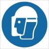 EF1795 - Baret ve Yüz Siperi İşareti/Levhası/Etiketi