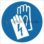 EF1797 - Elektrikçi Eldiveni İşareti/Levhası/Etiketi