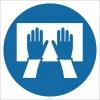 EF1821 - Ellerinizi Topraklama Levhasına Bastırın İşareti/Levhası/Etiketi