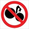 EF1836 - Dönen Parçalara Elini Yaklaştırma İşareti/Levhası/Etiketi