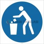 EF1839 - Çöpleri Çöp Kutusuna At İşareti/Levhası/Etiketi
