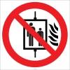 EF1853 - Yangın Durumunda Asansörü Kullanmayın İşareti/Levhası/Etiketi