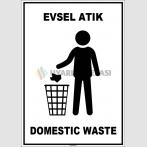 EF1923 - Türkçe İngilizce Evsel Atık, Domestic Waste
