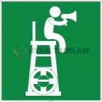 EF1992 - Cankurtaran Kulesi İşareti Levhası/Etiketi