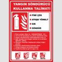 EF2056 - Yangın Söndürücü Kullanma Talimatı