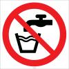EF2084 - Musluk suyu içilmez işareti