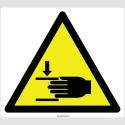 EF2107 - Dikkat El Ezilme/Sıkışma Tehlikesi İşareti