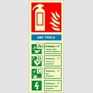 EF2173 - Fosforlu ABC Tozlu Yangın Söndürücü Levhası