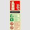 EF2177 - Fosforlu Karbondioksitli Yangın Söndürücü Levhası
