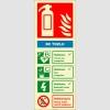 EF2178 - Fosforlu BC Tozlu Yangın Söndürücü Levhası
