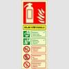 EF2179 - Fosforlu Islak Kimyasallı Yangın Söndürücü Levhası