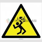 EF2195 - Dikkat Yukarıdan Malzeme Düşme Tehlikesi İşareti