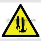 EF2196 - Dikkat Yukarıdan Malzeme Düşme Tehlikesi İşareti