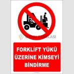 EF2225 - Forklift Yükü Üzerine Kimseyi Bindirme