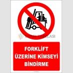 EF2227 - Forklift Üzerine Kimseyi Bindirme